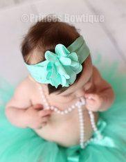 Aqua Frilly Baby Toddler Headband