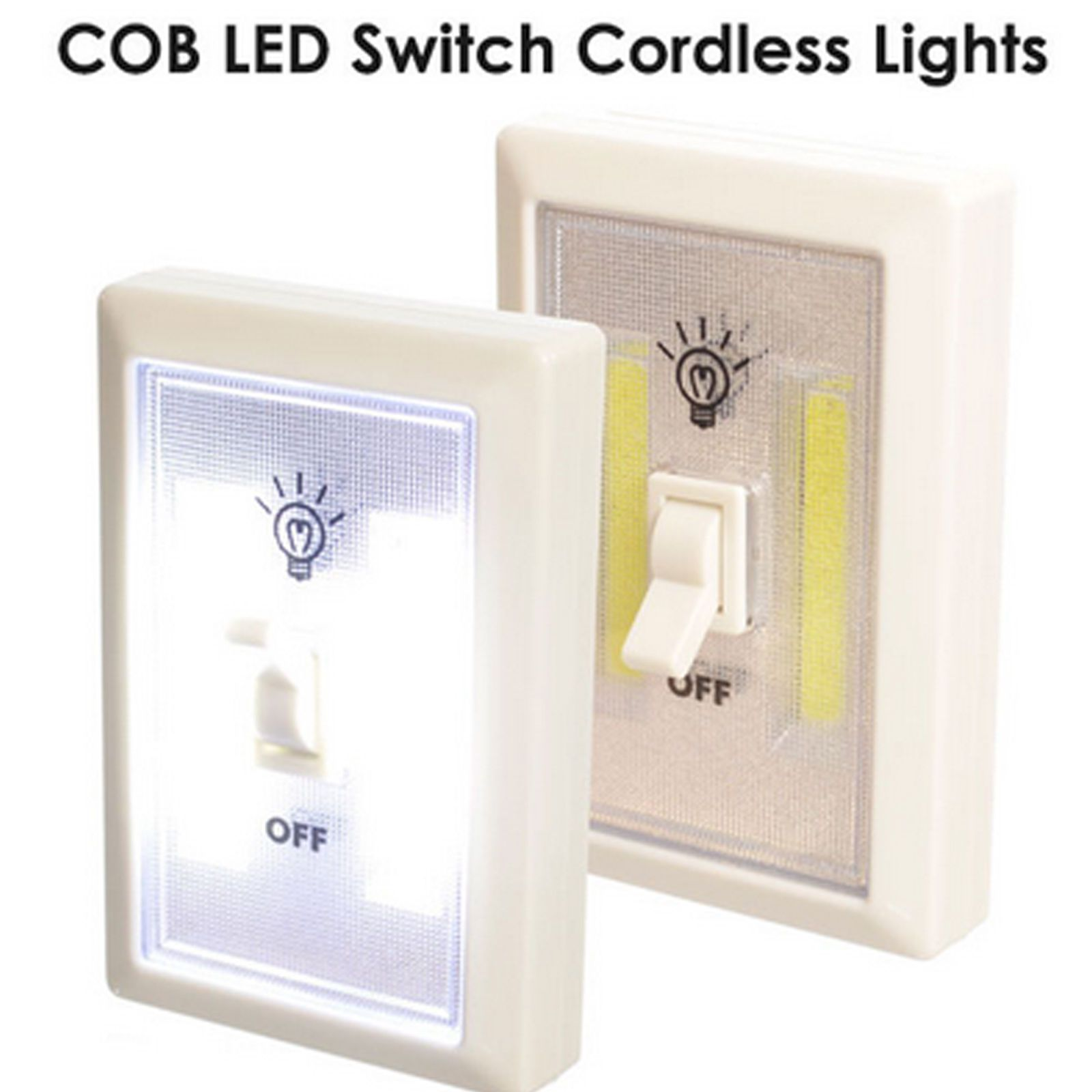 pcs cob led wall switch wireless battery operated closet cordless