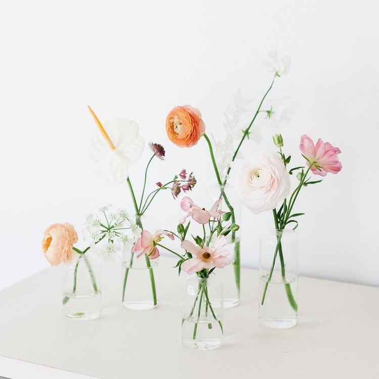 Modern Minimalist Bud Vase Arrangements Flower Vase Arrangements Bud Vases Arrangements Bud Vases Wedding