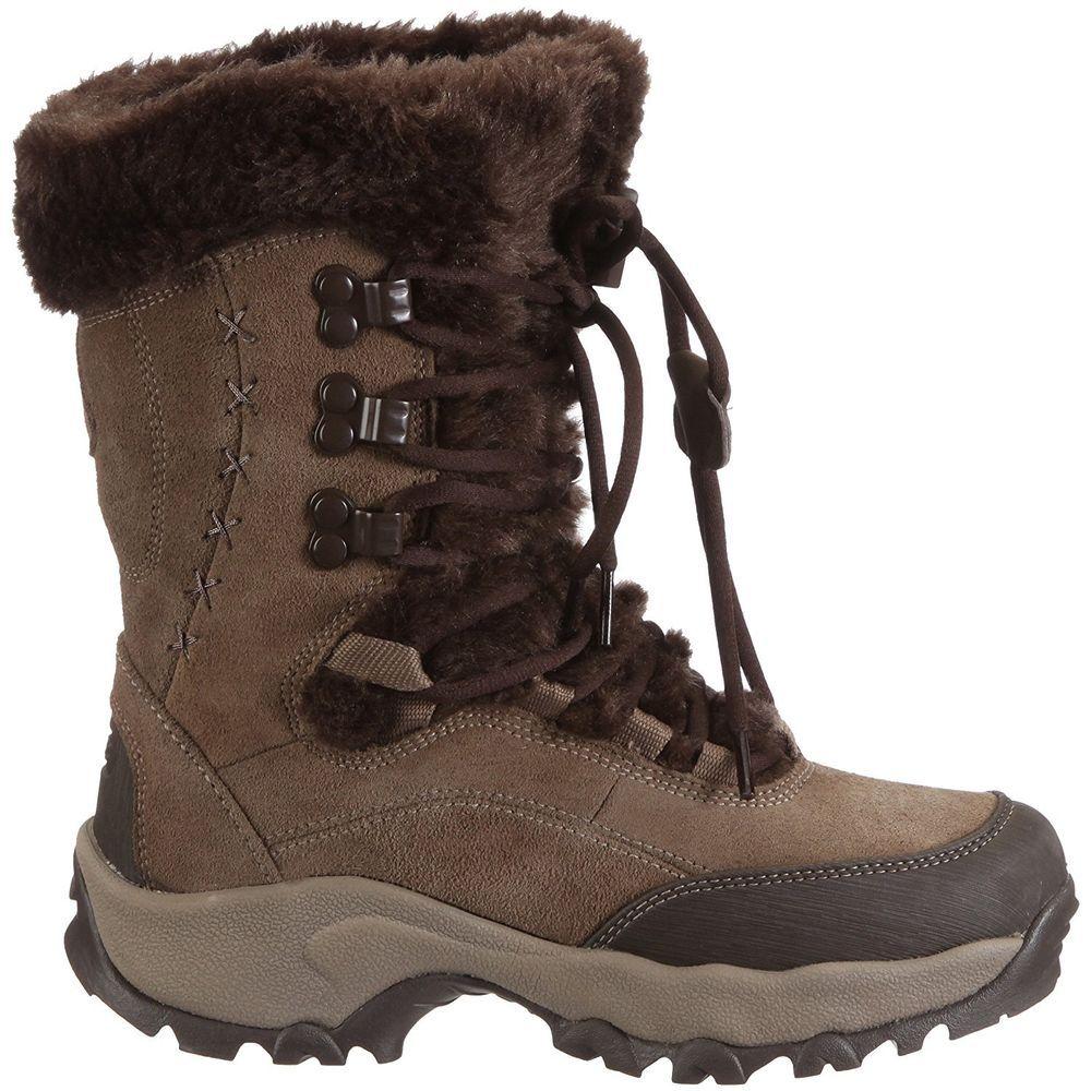 459c7135010 Womens Hi-Tec St Moritz 200 Waterproof Snow Boot Brown/Chocolate uk ...