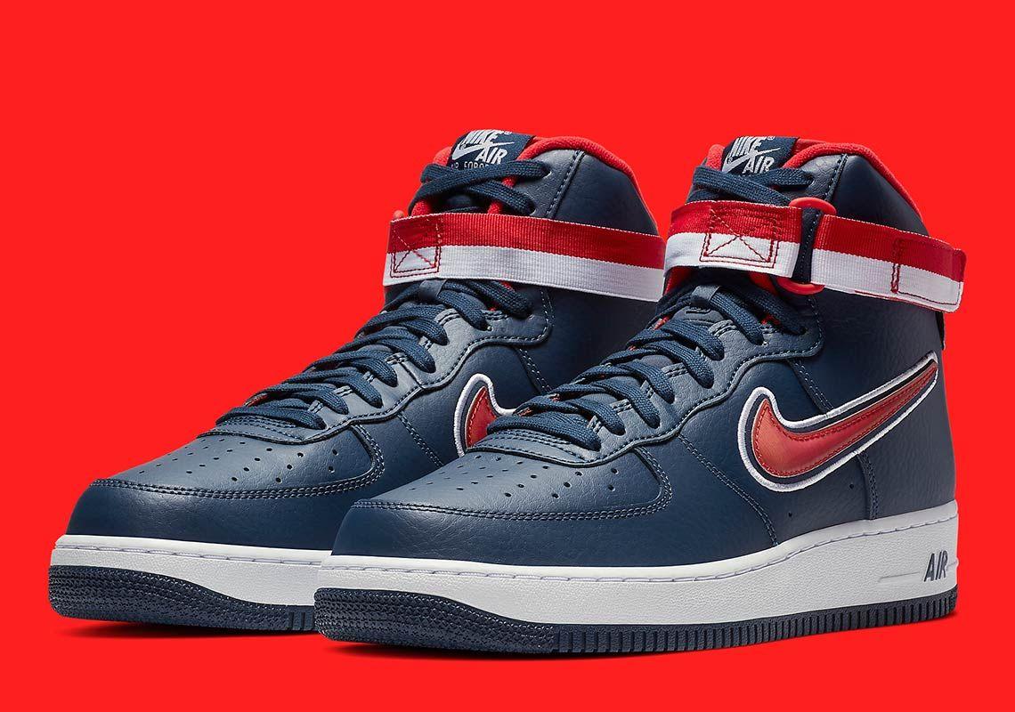 pretty nice fa950 ae635 Nike Air Force 1 High Washington Wizards AV3938-400 #thatdope #sneakers  #luxury #dope #fashion #trending