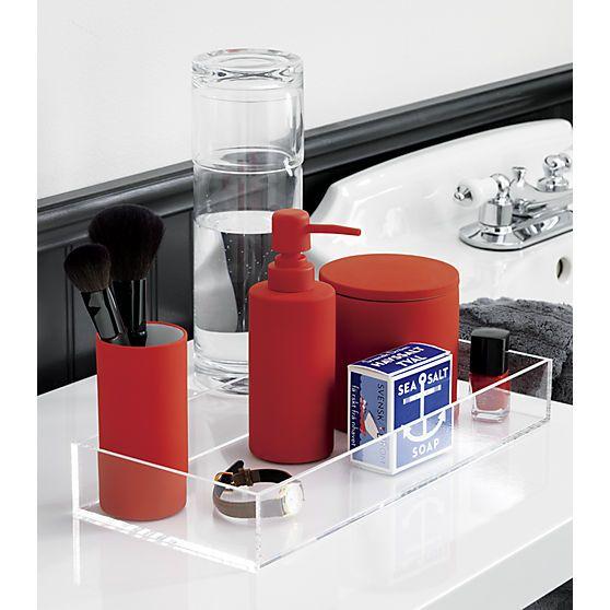 Rubber Coated Orange Bath Accessories In 25 Off Bath Essentials