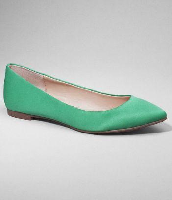mint green flats!