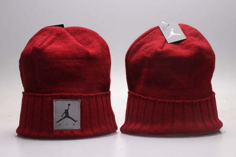 Men s   Women s Nike Air Jordan Jumpman Air Logo Patch Swen Cuff Cable Knit Pom  Pom Beanie Hat - Red b513a09b8c5