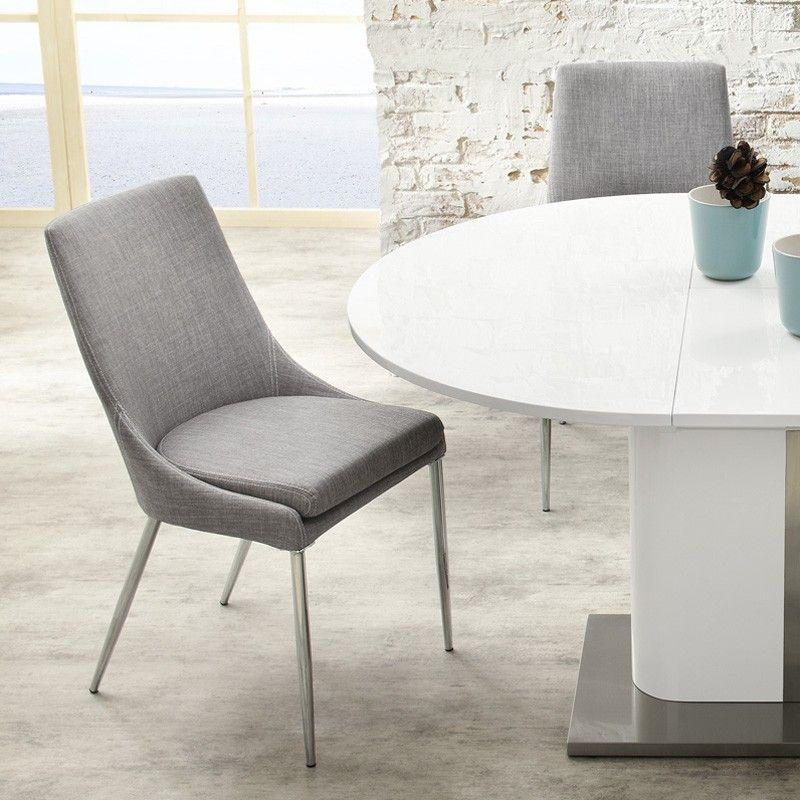 Billig stuhl grau stoff Deutsche Deko Pinterest Living rooms - esszimmer modern weis grau