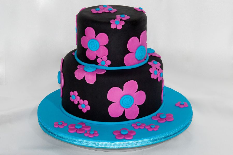 Colorful Teen Birthday Cakes Pin Flower Power Cakes Gullu Cake on