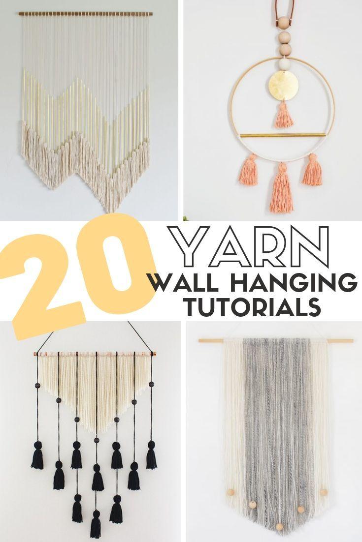 Photo of 20 Easy DIY Yarn Wall Hanging Crafts | Crafty Blog Stalker