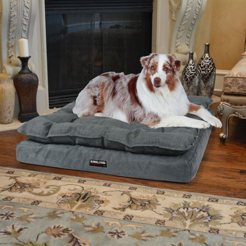 kirkland signature™ pillow top orthopedic pet napper in blue
