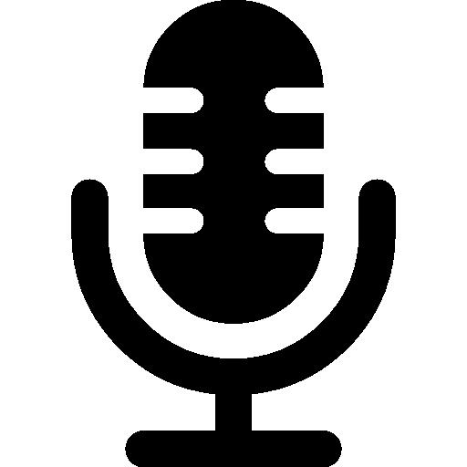 Micrófono símbolo interfaz de voz icono gratuito   Logotipo de estudio, Logotipos de futbol, Iconos de redes sociales