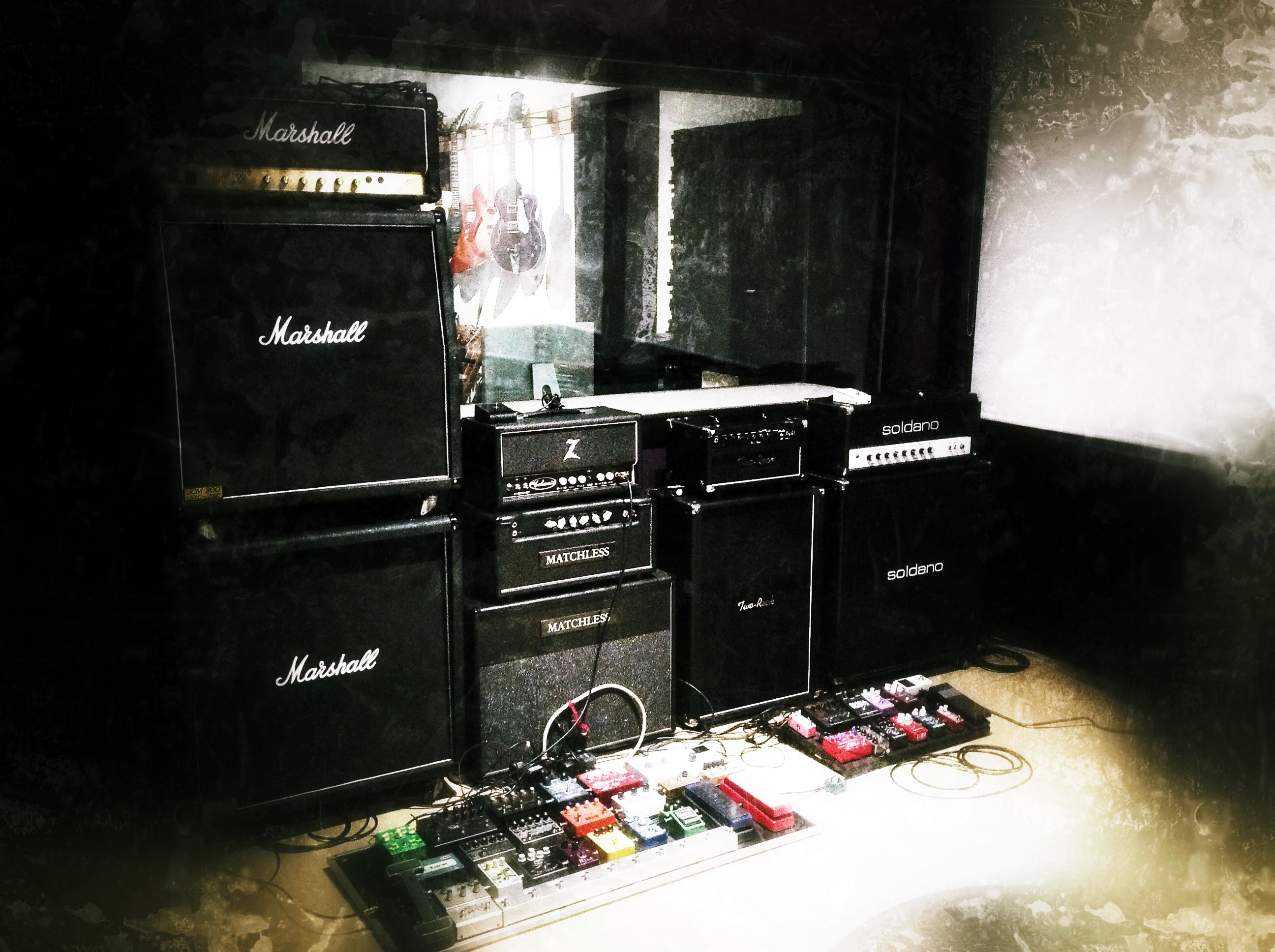 wall of sound jcm800 dr z galaxie matchless clubman two rock studio pro 22 soldano hot rod. Black Bedroom Furniture Sets. Home Design Ideas