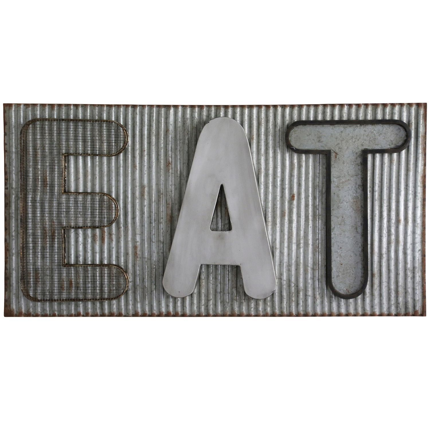 Eat metal wall decor metal walls metals and products