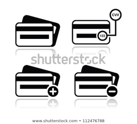 Credit Card, CVV code black icons set with shadow - Shutterstock