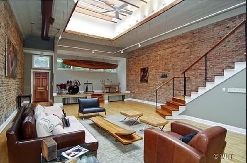 Open Loft Chicago Lofts Converted Warehouse Apartment Living Area