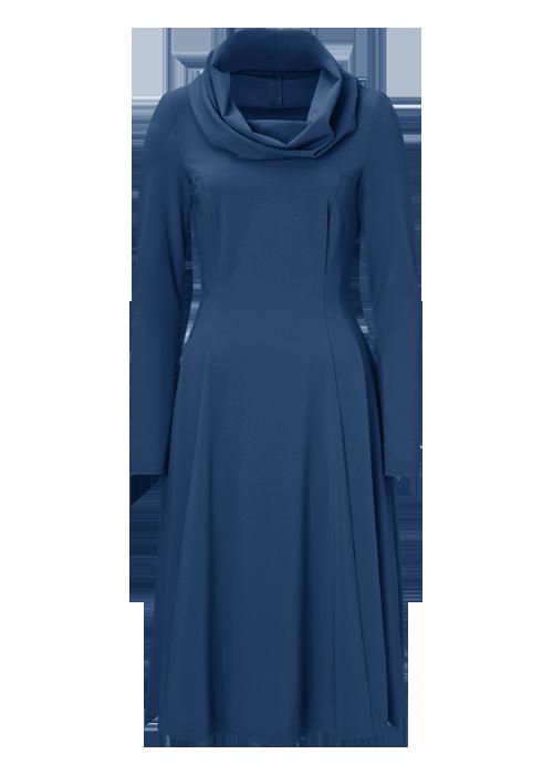 Lila kleid blau farben
