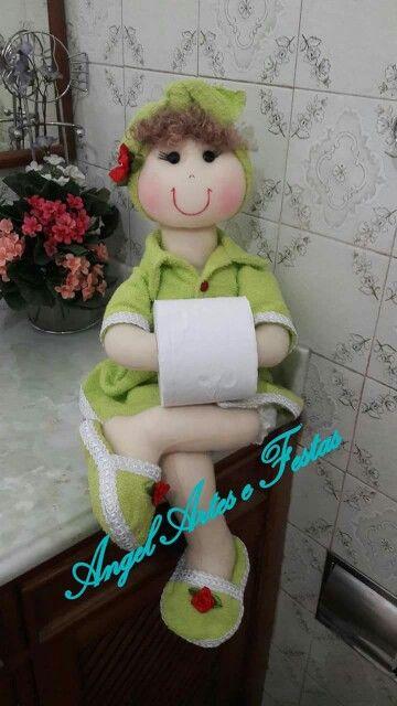 Boneca porta papel higiênico www.facebook.com/angelartes