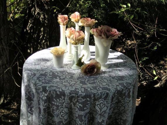 Seven Milk Glass Vases  Great Wedding Decor by GypsyMoonbeams, $50.00