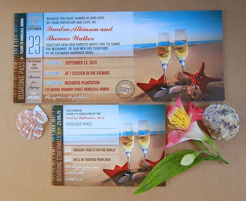 read more – ROMANTIC BEACH WEDDING INVITATIONS BOARDING PASS TICKETS | Wedding and Party Invitations
