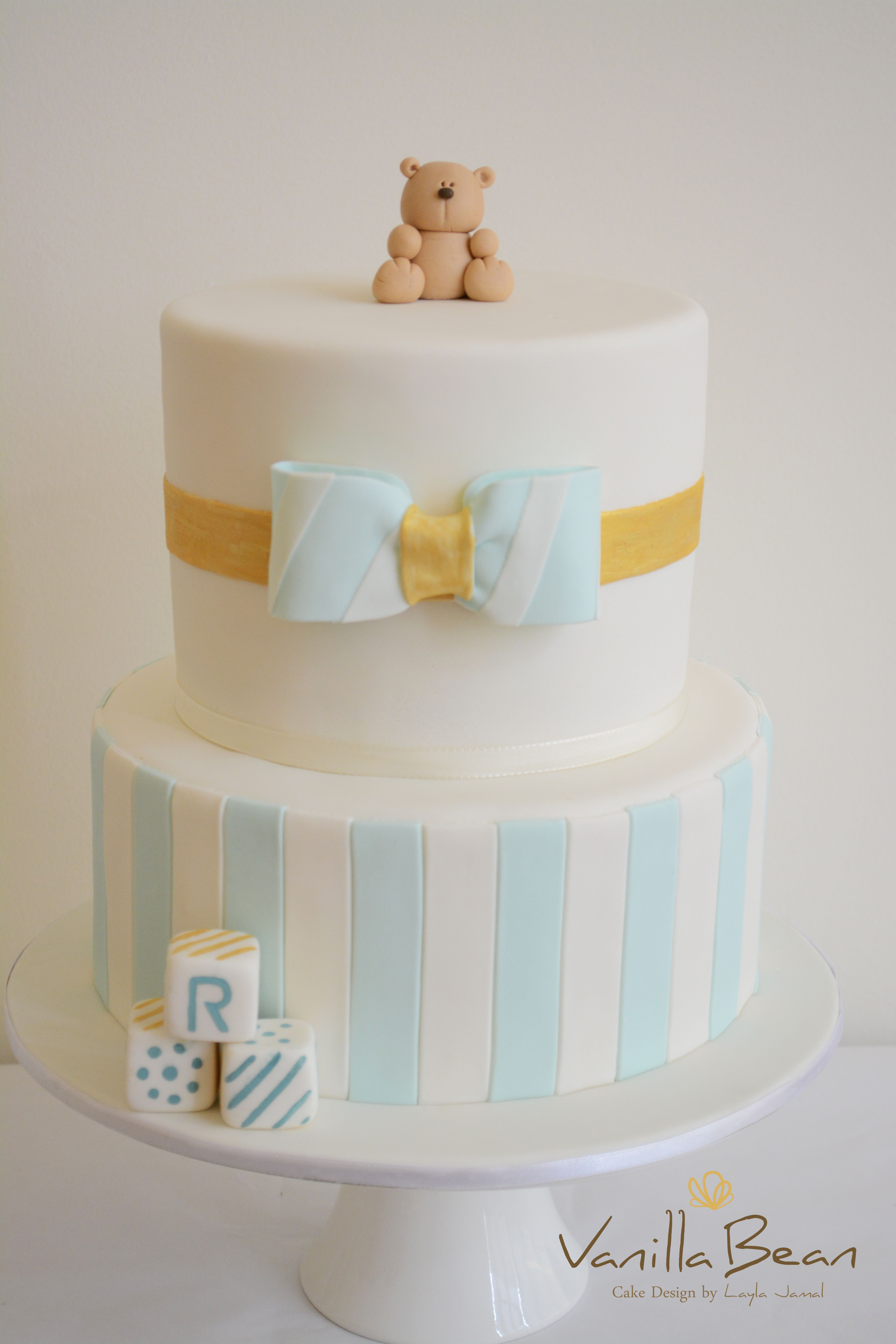 Baby Boys First Birthday Baby Shower Cakes Pinterest