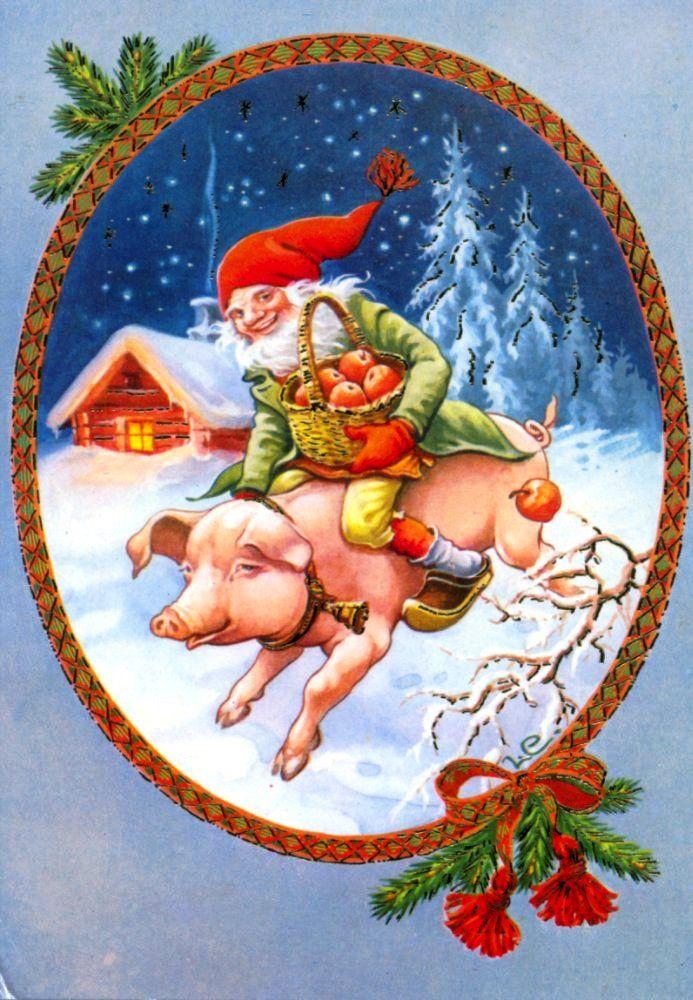 Новогодние картинки свинки для декупажа, приятного