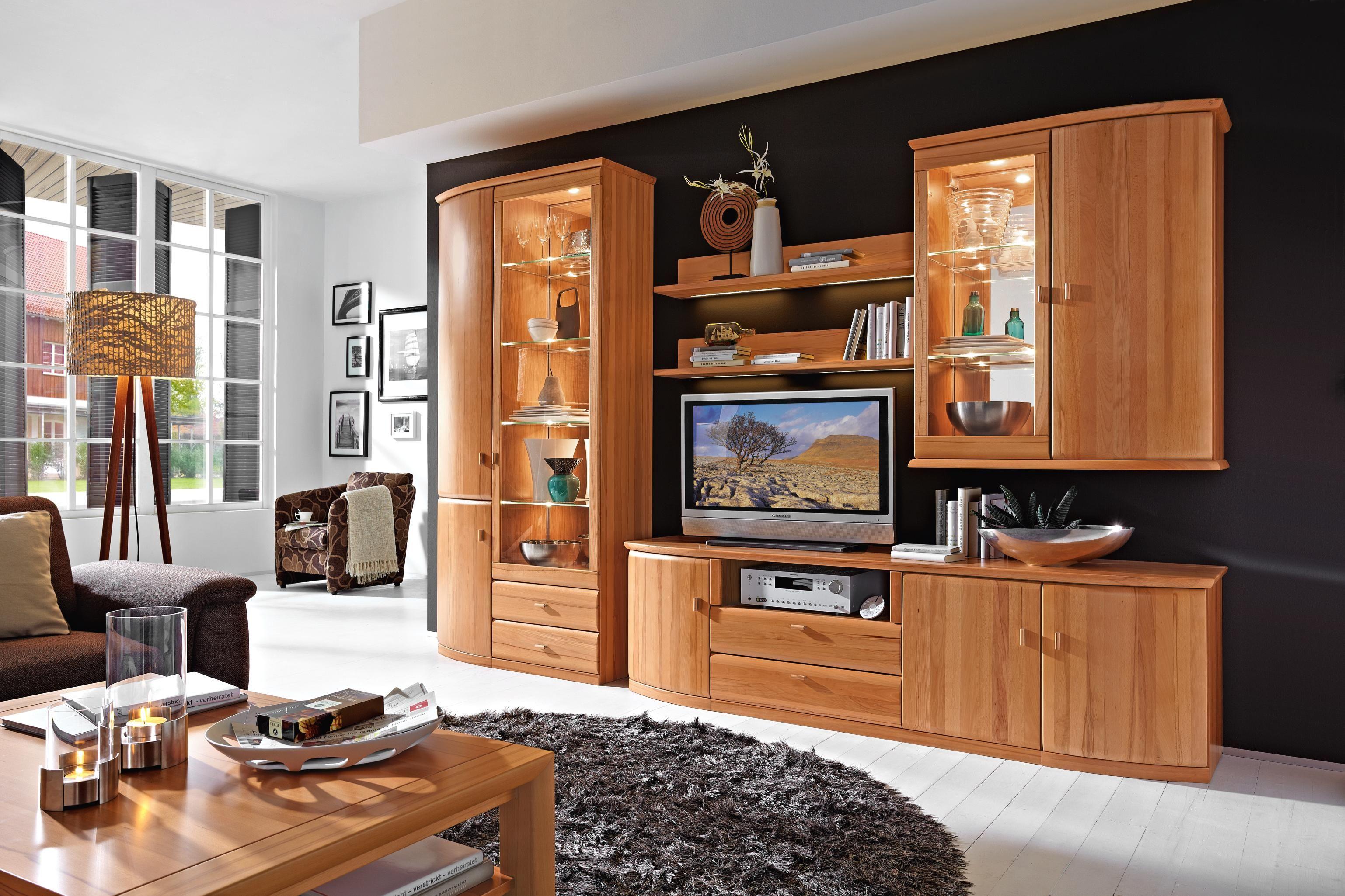 Wohnwand design stein  Wohnwand in Birke von INVIVUS | Wohnwände | Pinterest | Wohnwände ...