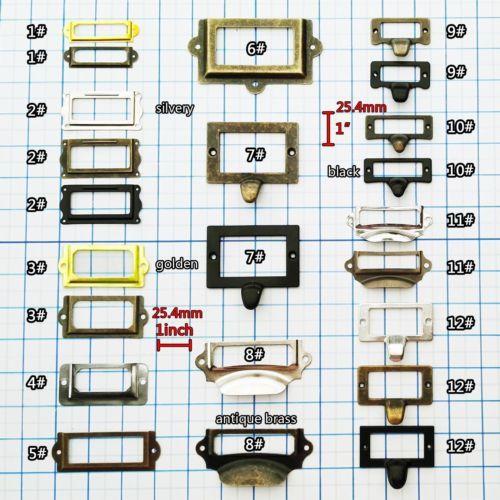 Details About 6/12/48pcs Cabinet Drawer Door Tag Label