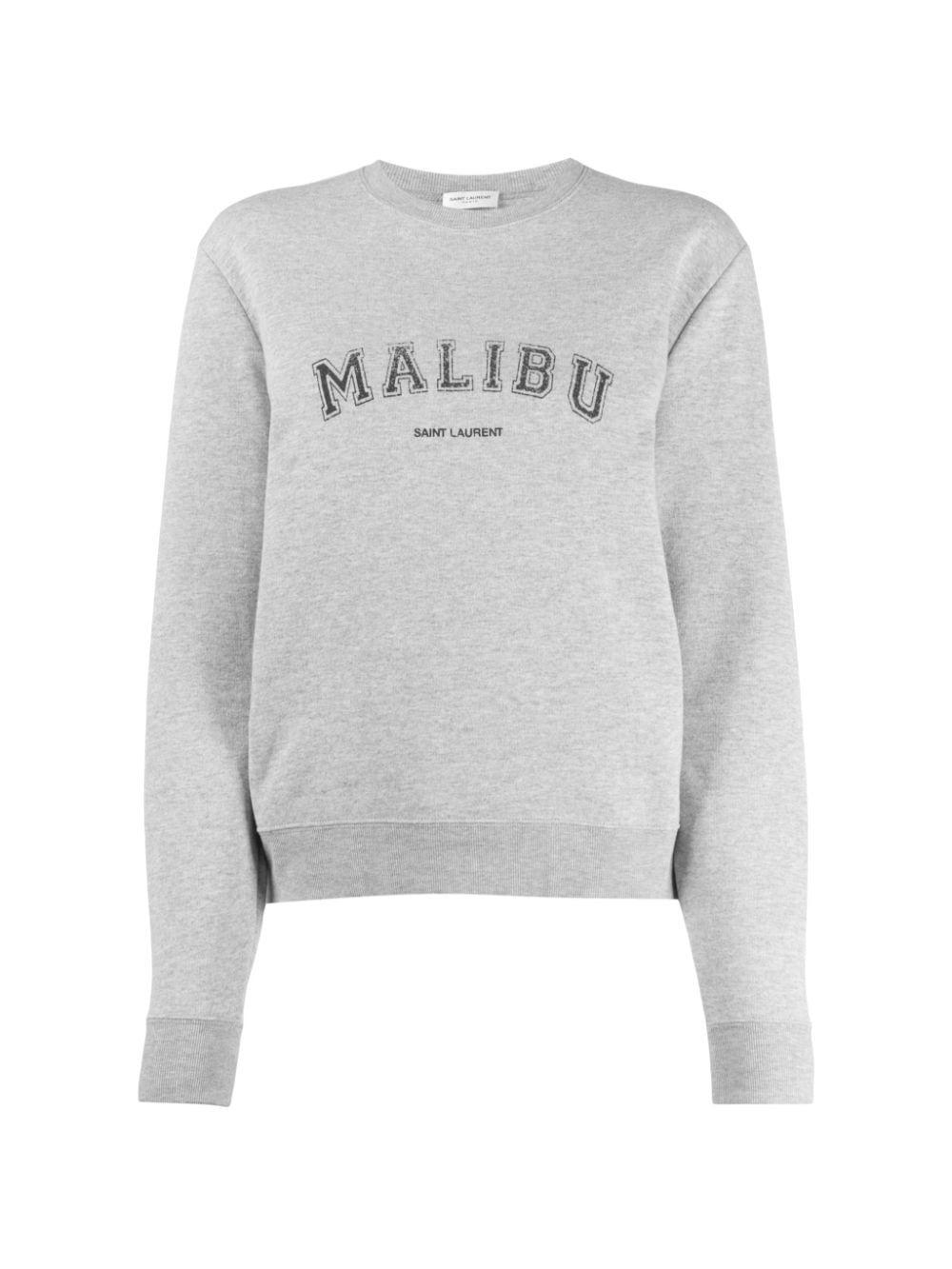 Saint Laurent Malibu Crewneck Sweatshirt Saintlaurent Cloth Crew Neck Sweatshirt Sweatshirts Saint Laurent [ 1333 x 1000 Pixel ]
