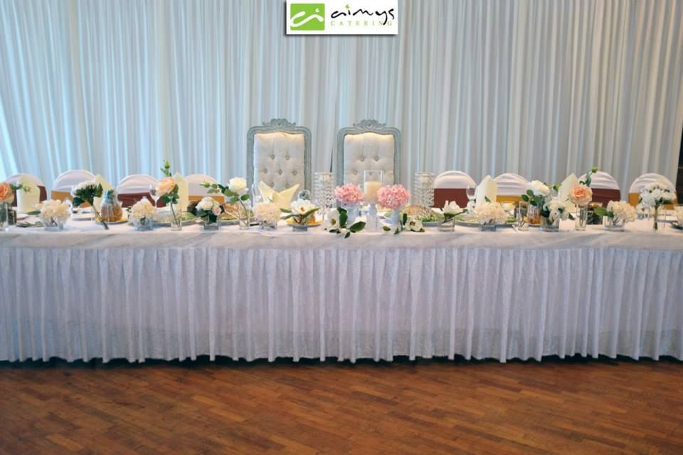 Clean Meja Beradab Less Flowery Table Decorations Table