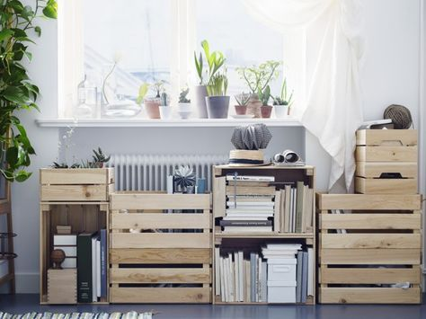 ikea hacking les caisses en bois knagglig ikea id e. Black Bedroom Furniture Sets. Home Design Ideas
