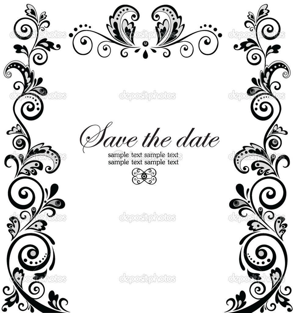 Border Clipart Clipart Collection Floral Border Clipart Etc Wedding Invitations Borders Wedding Borders Clip Art Borders