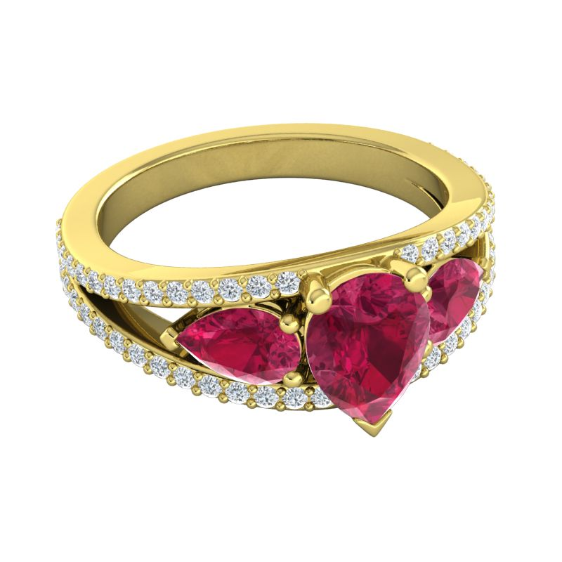 Ruby Diamond | Wedding Jewelry | Engagement Rings