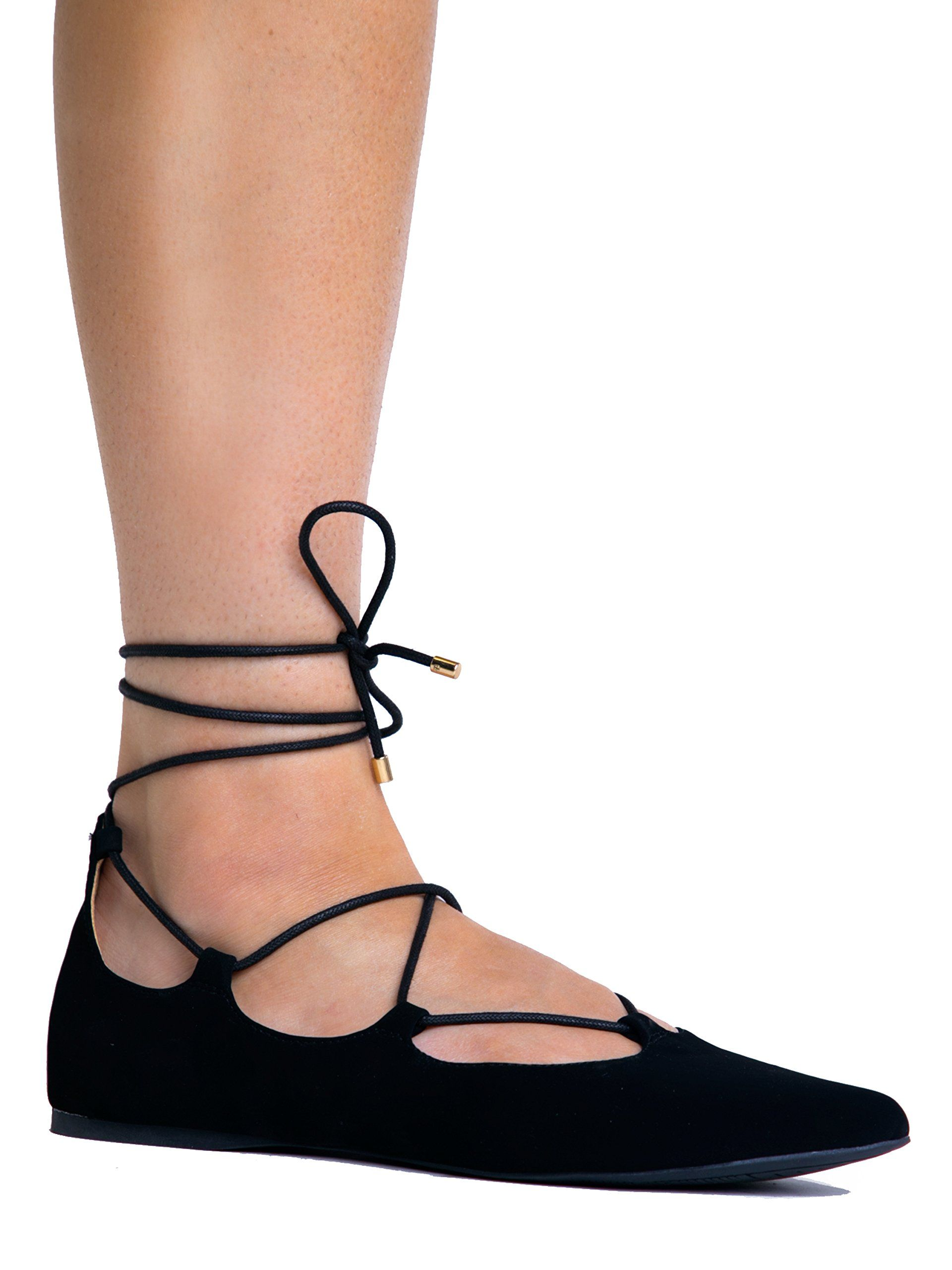 Lace Up Ankle Tie Pointed Toe Ghillie Ballet Flat 8.5. THE LATEST TREND: Lace  up ghillie heels and flats are in!… | Lace up sandals, Hipster shoes, Flat  shoes women