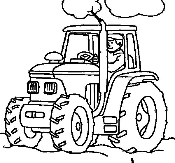 Tractor Coloring Pages (6) | Dan\'s Baby Board | Pinterest | Colores ...