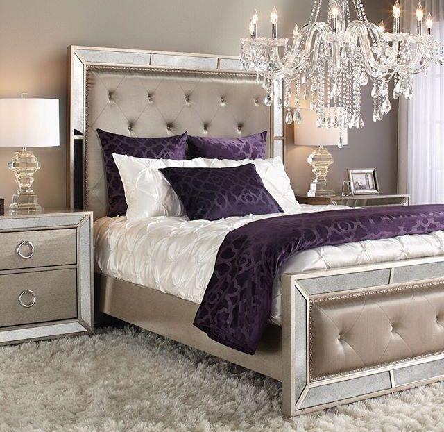 Haus Renovierungen, Schlafzimmer, Lila Schlafzimmer Akzente, Silber  Schlafzimmer Dekor, Lila Hauptschlafzimmer, Silber Bettwäsche, Lila  Schlafzimmer, ...
