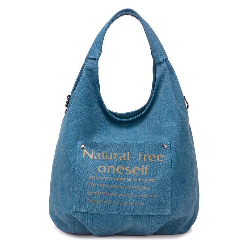 High Quality Canvas Women Handbag Casual Large Capacity Hobos Bag Brand  Female Totes Bolsas Vintage Solid 4de640f22528e
