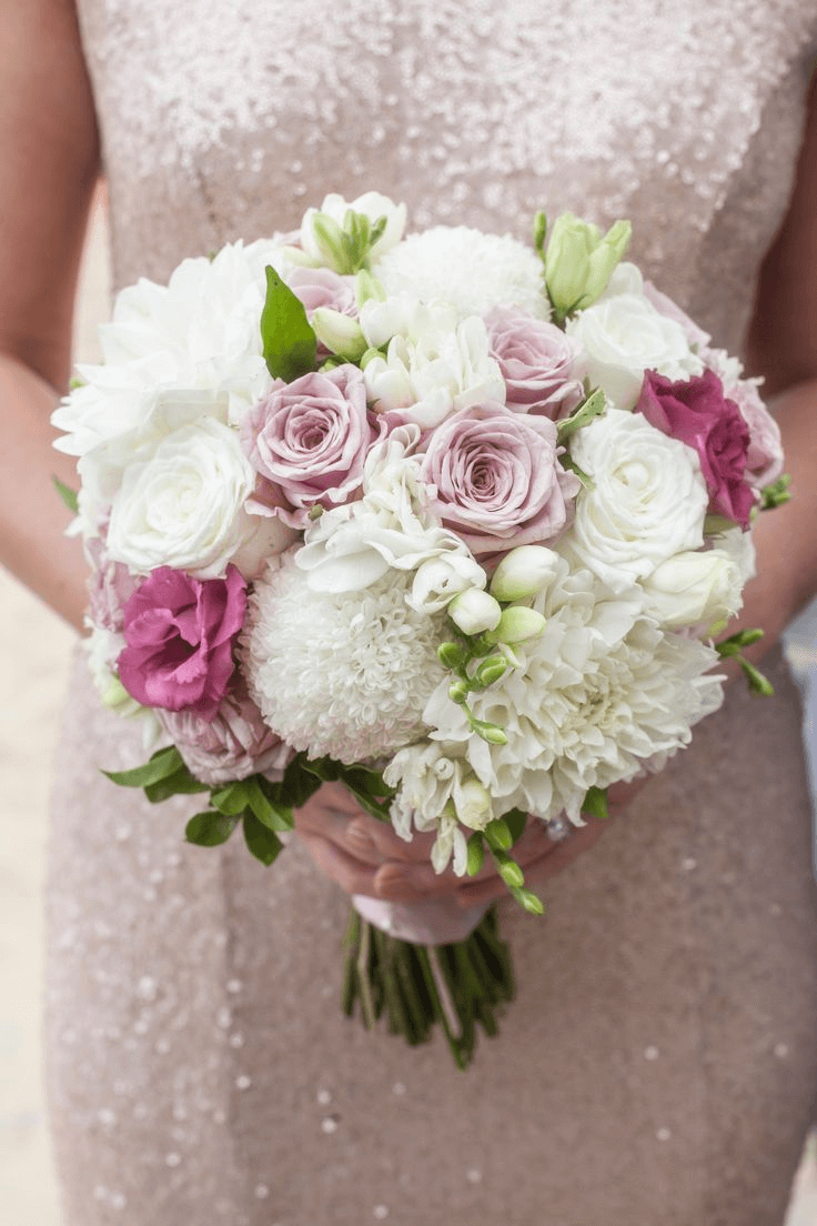 White Red Chrysanthemum Wedding Bouquet Chrysanthemum Bridal