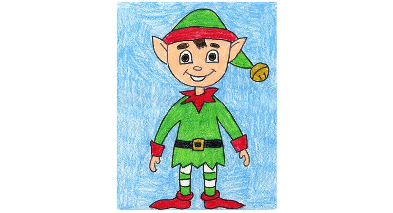 Elf Drawing Step By Step Art Projects For Kids Elf Drawings Kids Art Projects Elf Art