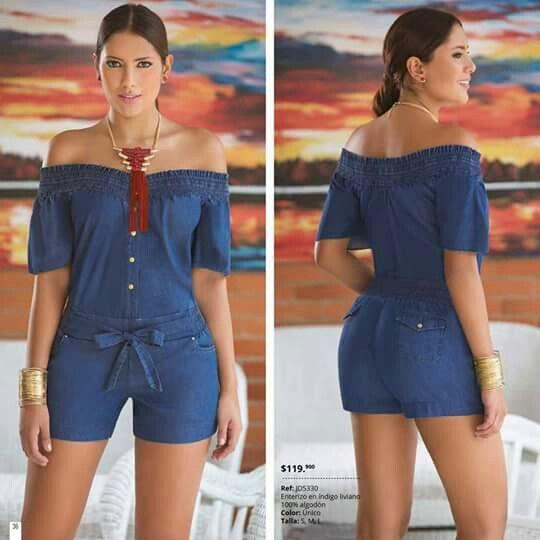 Resultado de imagen para Enterizo Corto en Jeans patrones