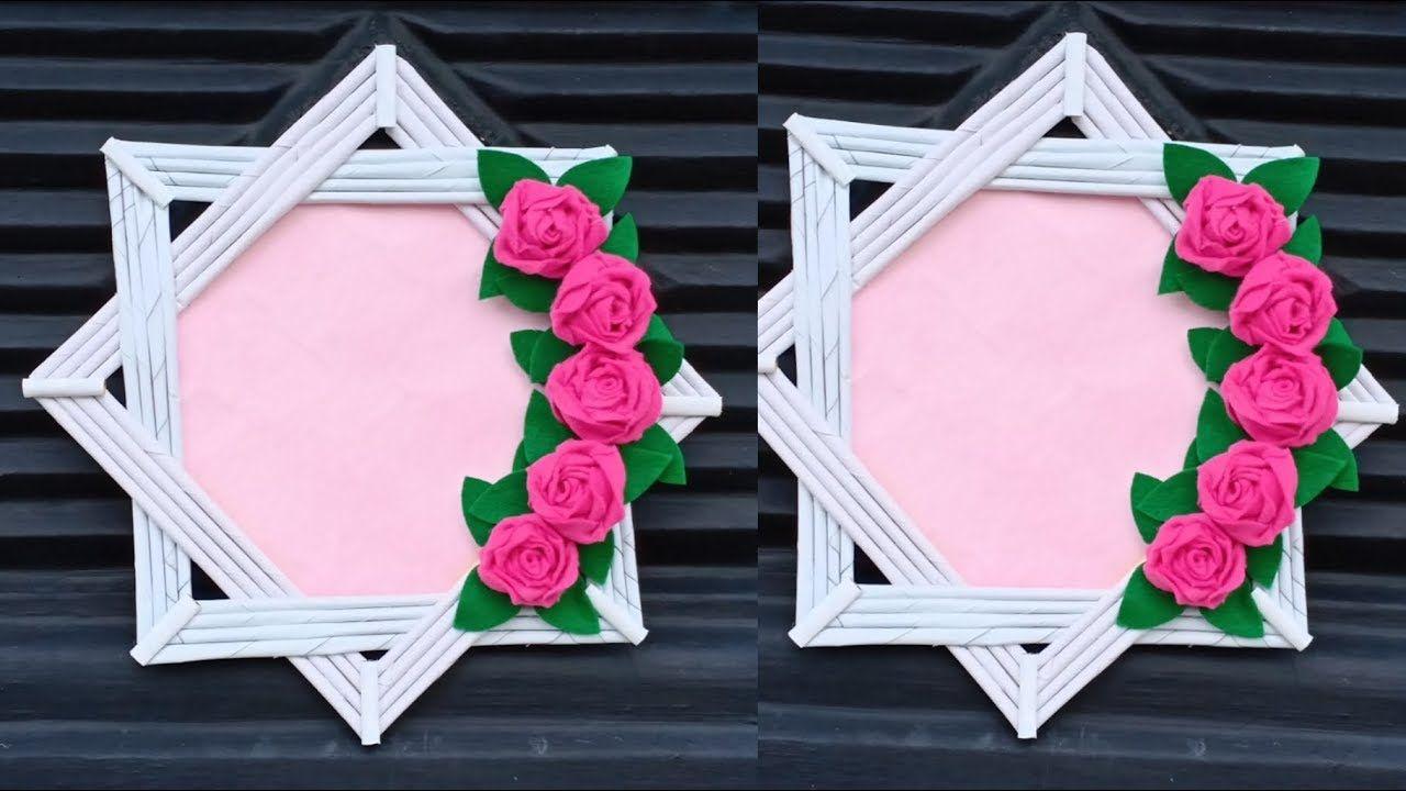 Ide Kreatif Membuat Bingkai Foto Dari Kertas Photo Frame