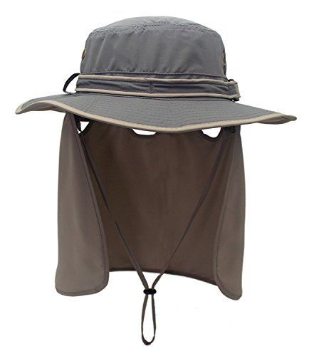 d95da5d23385e Peak Mall Unisex Outdoor Sun Protection Sun Hats Neck Face Flap Fishing  Farmer Gardener Cap Wide Brim