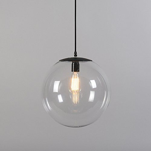 QAZQA Modern Pendelleuchte / Pendellampe / Hängelampe / Lampe / Leuchte  Pallon 35 Transparent / Innenbeleuchtung