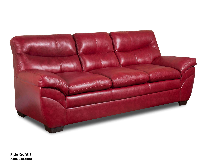 Simmons Upholstery Soho Cardinal Bonded Leather Sofa Reviews