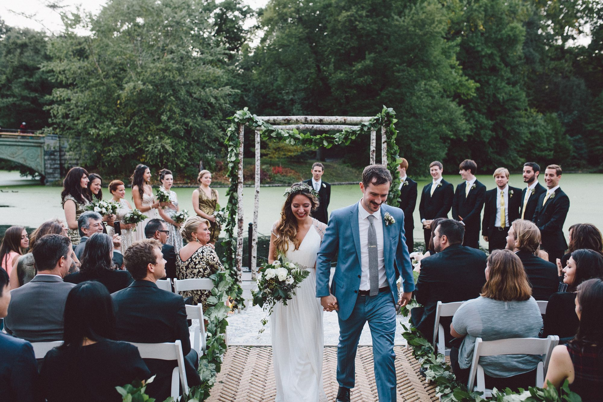Dana And Ronan Recessional At Prospect Park Boathouse Wedding