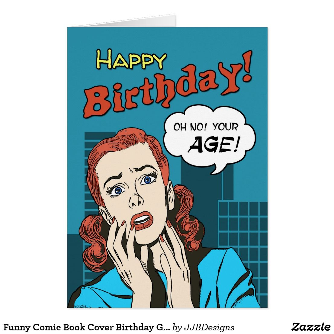 funny comic book cover birthday greeting card funny greeting cards