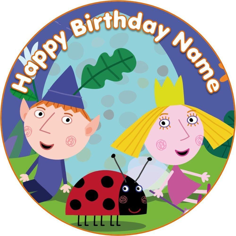 Edible Ben And Holly Holly S Little Kingdom Birthday Party Cake Topper Wafer Paper 7 5 Uncut Decor Decorating Decorati Ben E Holly Ideias Para Festas Ideias