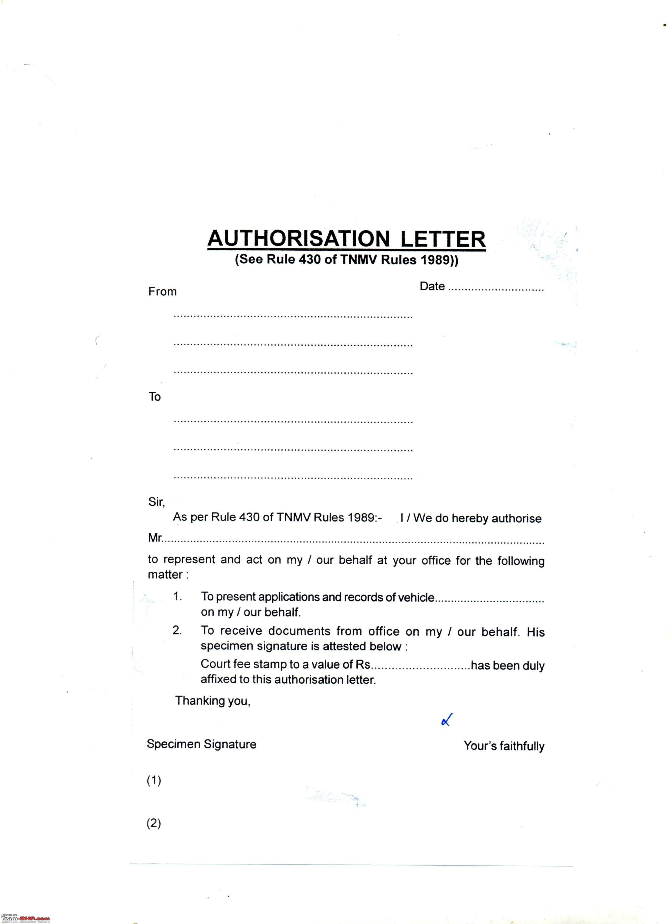 Letter Authorization Drive Car Sample Amp Templates Format For