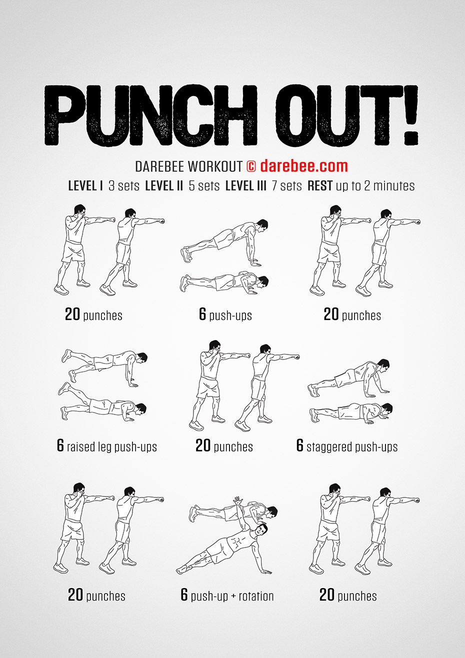 Punch Out! Workout Boxing workout, Mma workout