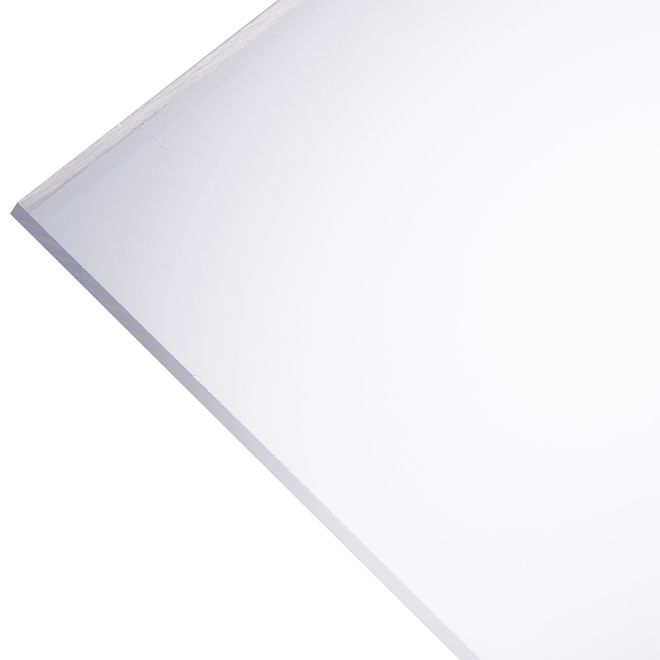 Plaskolite Optix 2 5 Mm Acrylic Panel 24 X 36 Clear 49067 Rona Acrylic Panels Acrylic Sheets Acrylic Colors