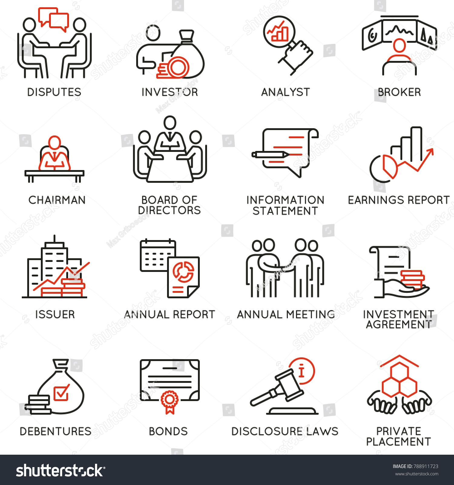 Vector Set Of Linear Icons Related To Business Process Team Work Human Resource Management And Infographic Design Business Process Human Resource Management
