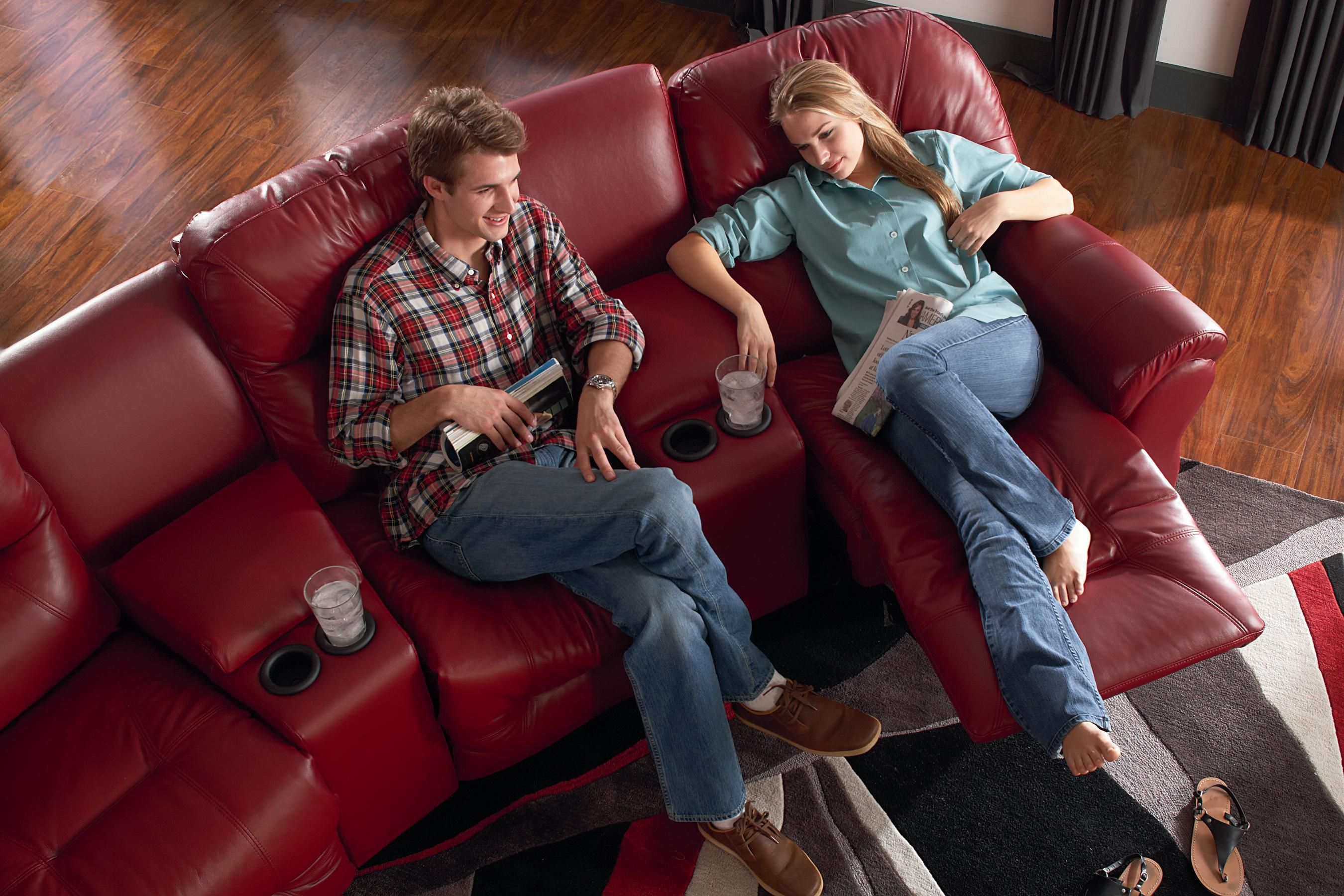 Attrayant Best Home Furnishings Furniture: Bodie 3 Seater Power Reclining Leather  Home Theater Group #hometheater #theaterseating