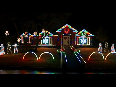 2014 johnson family dubstep christmas light show featured on abcs the great christmas light fight